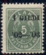 ICELAND #52 5aur I GILDI, og, NH, F/VF, Facit $840.00