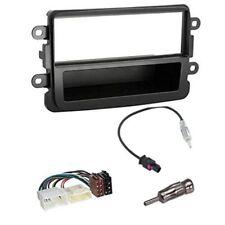 Kit montaggio autoradio stereo  mascherina 1 DIN DACIA duster sandero grigio scu