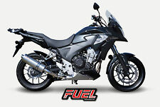 Honda CB500X 13-16 Slash Brushed S/S Oval Mini UK Road Legal Exhaust + Link Pipe