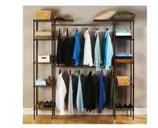 Closet Organizer Systems Hanging Shelves Kit Bedroom Storage Wire Rack Clothes