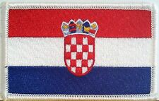 CROATIA Flag Tactical Patch W/ VELCRO® Brand Fastener Military  White Version #7