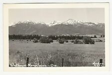 RPPC, View of Wallowa Mountain range, Wallowa, Oregon, ca1950s-60s