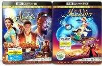 Aladdin Lot of 2 [with Slipcover Sleeves] 4K UHD Blu-ray/Bluray [Disney Movies]