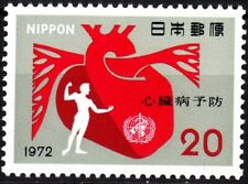 JAPAN 1972 Medicin: Month of Heart, MNH