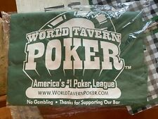 NEW World Tavern Poker Green Vinyl Tablecloth, Large Rectangle Poker Table Cover