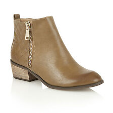 Dolcis Jackie Quilted Ankle Boots Tan