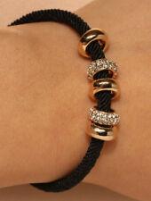 18k Yellow & White Gold Filled Diamond Enamel Bangle Bracelet