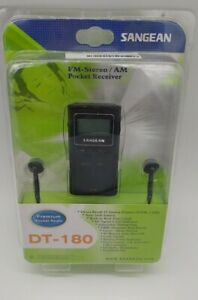 Sangean Dt-180/black Pocket Am/fm/ Receiver with Headphones New Factory sealed
