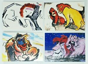 1994 Disney Skybox - The Lion King Story Sketch Cards - Complete Set 1-9 in Case