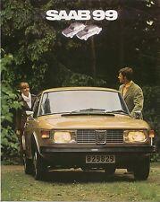 Saab 99 1850 Saloon 1971-72 Original UK 8pp Sales Brochure Pub. No. GB5P71045