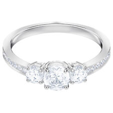 6fbf75d63bac Attract Trilogy Ring White Rhodium Size 8 EUR 58 2018 Swarovski Jewelry  5448843