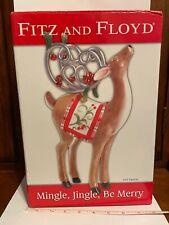 "Fitz and Floyd Classics - Mingle Jingle Be Merry - 2006 Deer Figurine 11X7X3.5"""