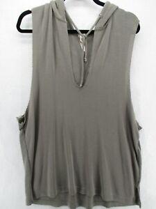 Free People Women's Hoodie Vest Medium  Movement Baja Gray Sleeveless FP GA4-2