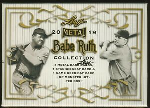 2019 Leaf Metal BABE RUTH Collection SEALED HOBBY BOX