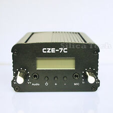 CZE-7C 7W stereo PLL FM transmitter broadcast radio station TNC connector