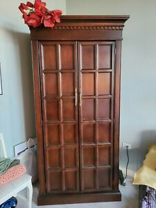 Solid Wood Armoire/Wardrobe 6.5' tall w/ garment bar & built-in drawers