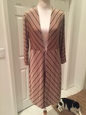 NWT Chico's Travelers Clambake Beige /Black striped Duster jacket  1 or medium