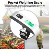 Portable Electronic LCD Digital Suitcase Luggage Scale Weigh Hanging Travel 50KG