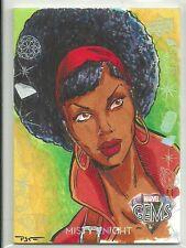 2016 Upper Deck Marvel Gems Base Sketch Card Misty Knight by Patricio Carrasco
