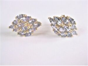 Earrings Gold 585 With Amethyst, 0.1oz