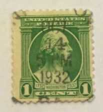 1 Cent George Washington Green Stamp (Looking Right) - Oct 14 5PM 1932