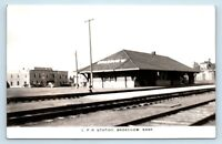 Broadview, SK, CANADA - EARLY VIEW OF CPR STATION TRAIN STATION DEPOT RPPC - H2