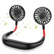 Portable Hanging Neck Sport Fan Lazy Neckband USB Rechargeable Personal Mini Fan