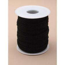 Rollo 1 YD (approx. 0.91 m) Negro 1 cm Ancho Diadema Forro trenza cinta para sombrerería, Craft