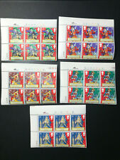 Gb Qeii Sg1624-1628 Gilbert & Sullivan Set Cylinder Blocks of 6 1992 Stamps Mnh