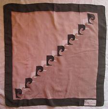 Magnifique Foulard  PIERRE CARDIN Paris soie 70cm x 70cm TBEG  Scarf