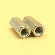 2 Pcs M6 X 10 Long Rod Coupling Hex Nut 304 Stainless Steel