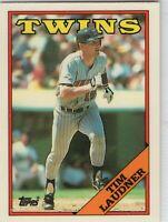 1988 Topps Tiffany Baseball Minnesota Twins Team Set