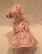 Pink Fantasy Floral Dog Harness Set/Dog Dress/Dog clothes/Chihuahua size xs,m,l