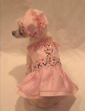 Pink Fantasy Floral Dog Harness Set/Dog Dress/Dog clothes/Chihuahua size xs,m,l
