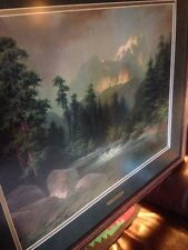 A D Greer First Light In The Rockies Reproduction Of Original Oil Painting