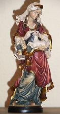 Heilige Agnes Statue Figur Holz wood Neu