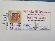 (VTG) 1977 NBA basketball All Star Game Ticket STub Milwaukee Bucks rare