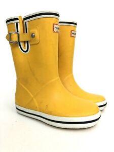 Hunter Youth Little Kids Size US 11 Yellow Rubber Waterproof Rain Boots EU 28