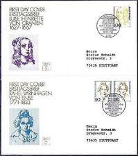BRD 1994: Frauen! FDC der Nr. 1755+1756! Stempel Berlin und Bonn! Echt gelaufen!