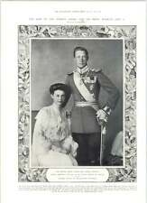 1905 German Crown Prince And Princess Duchess Cecilia