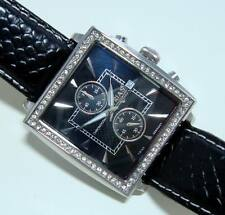TRIAS Chronograph, Edelstahl + Swarowski Elements, Lederband, neu