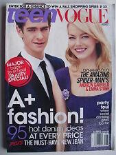 EMMA STONE & ANDREW GARFIELD  August 2012 TEEN VOGUE Magazine