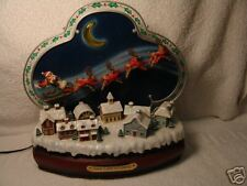 VINTAGE SANTA IS COMING/DELUX/LIGHT/ACTION/MUSICAL ENESCO 1990 FREE SHIPPING