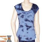 MAISON SCOTCH T shirt TIE and DYE TEE bleu femme taille 2 = 38 - 40