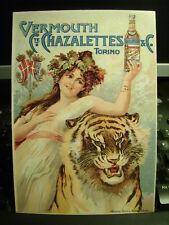 Cartolina 325 Pubblicità Vermuth C.te Chazalettes     Riproduzione da originale