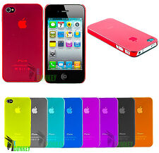 CUSTODIA CASE COVER APPLE IPHONE 4 4S TRASPARENTE ULTRA SOTTILE 0.3 MM FROSTED