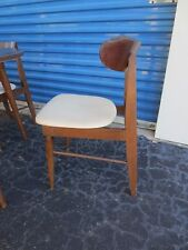 Curved Set 4 dining CHAIRS Mid-century Modern Eames Danish era style MCM four
