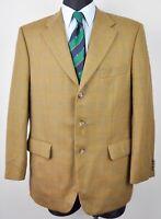 KAISER DESIGN Check Brown Blazer UK 44S Short Wool Coat 54 Herren Sakko 27 Tweed