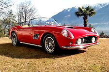 "1961 Ferrari California 250 GT Spyder Red Rosso Corsa - 17""x22"" Art Print -00186"