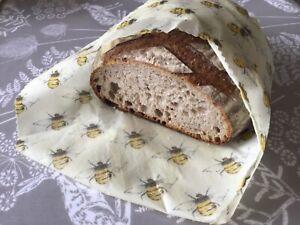 Beeswax Wrap Bread Wrap 50x50cm UK Handmade Lincolnshire Beeswax Bee Happy Eco